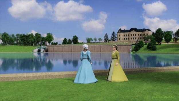 Les recherches effectuées aux Archives départementales notamment, ont permis de reconstituer ce qu'était le domaine du château d'Heilly, qui s'étendait sur 30 hectares, et autour du grand canal creusé selon les plans de Contant d'Ivry.
