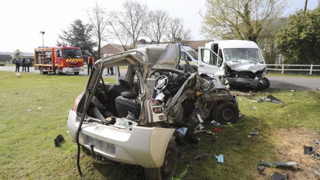 La collision s'est produite ce dimanche 18 avril, vers 10 heures.