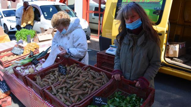 Les dernières gelées et les saints de glace se sont invitées dans les discussions ce dimanche au marché.