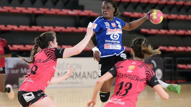 Jocelyne Mavoungou et les Octevillaise terminent la saison régulière  sur une bonne note (photo Paris-Normandie).