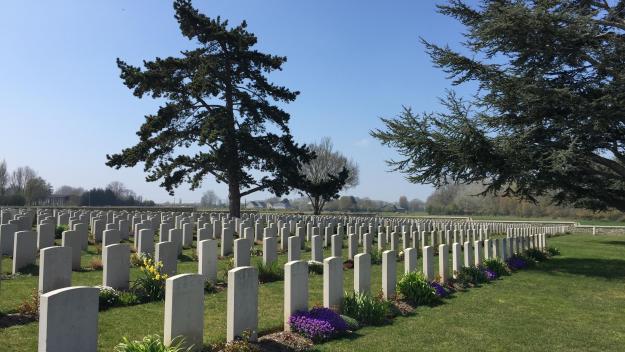 Le cimetière chinois de Nolette accueille 841 tombes de travailleurs chinois, morts pendant la Première Guerre mondiale.