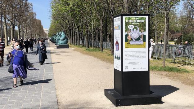 L'enfilade des statues, en bas des Champs-Elysées.