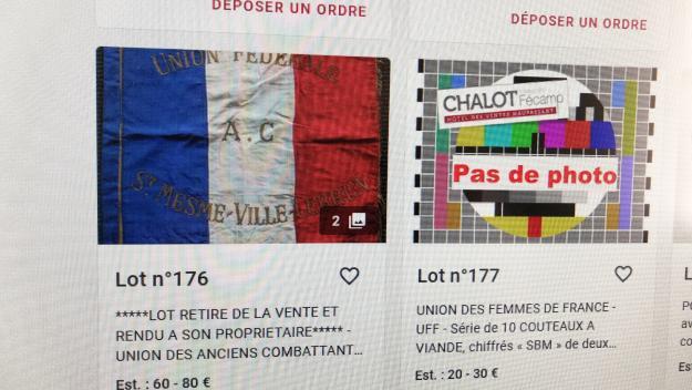 Jeudi 22 avril, le site Interenchères affichait que le lot n° 176 ne serait pas proposé à la vente samedi. (Photo PN)